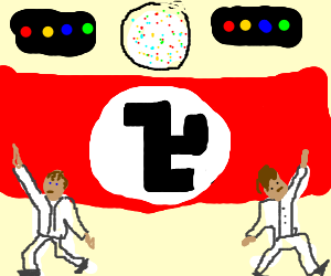 Almost-nazi disco party