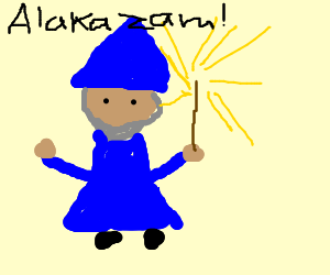 wizard uses light