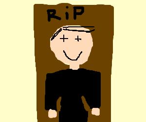 Dead peaceful person