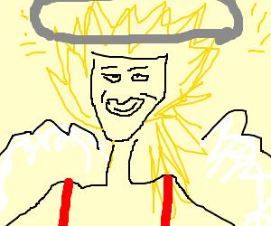 happy saiyan angel