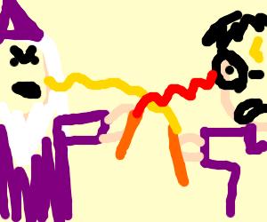 Dumbledor vs HP despitboth in candy team