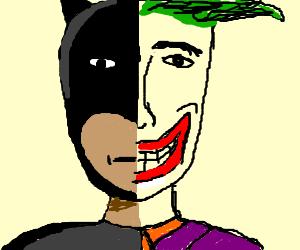 Half Batman Half Joker and vice versa