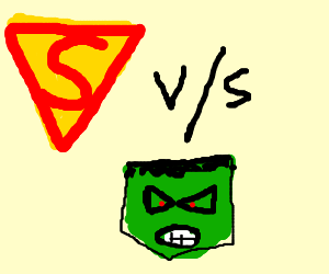WWE ft. SUPERMAN vs THE HULK!