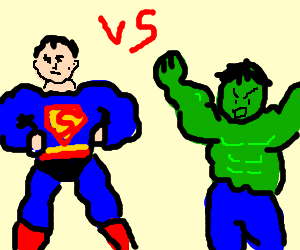 Superman versus The hulk!