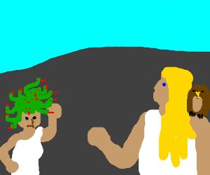 Medusa is quite upset with Athena