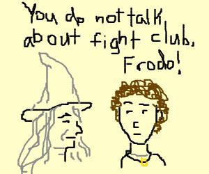 """Gandalf explains """"Da Rules"""" to frodo"""