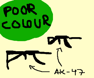 Green is the colour of poverty, plus AKs