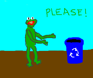 Kermit promotes recycling