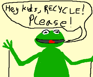 Kermit pleads for kids to recycle