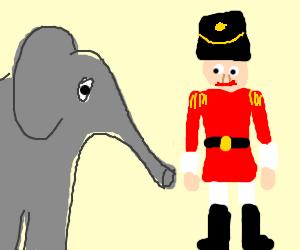 Elephants outperform nutcracker Dancers