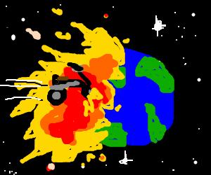 harley davidson explodes earth