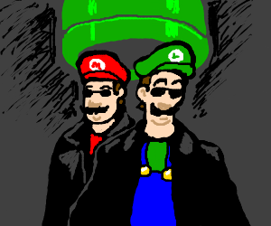 Luigi takes a pipe to the Matrix