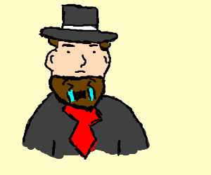 abe lincoln's beard crying