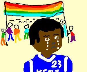 anthony davis upset at gay pride parade