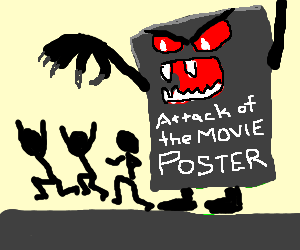 Horrific movie poster scares people!