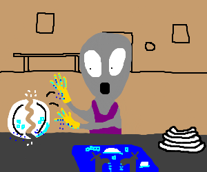 Alien sucks at controlling saucers