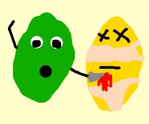 lime accidentally kills lemon in undies
