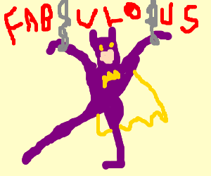Gay (Purple) Batman is a P.O.W.