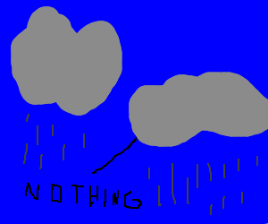 rainclouds talking about nothing