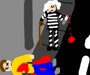 granny bandit stabs the darkness