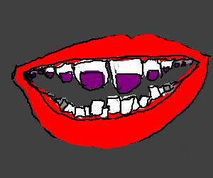 Teeth with toe polish