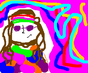 Hippy tripping on acid