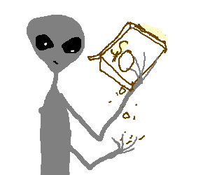 Alien needs to go to Earth to restock on cereal