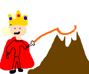 King climbs mountain with lasso