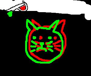 3D cat head
