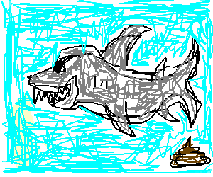 Shark going poo