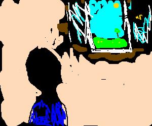 Man imagine a window