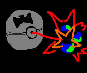 batman sponsored death star destroys planet