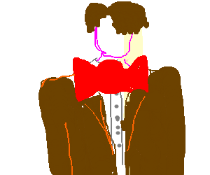 doctor who with no face and a big bowtie