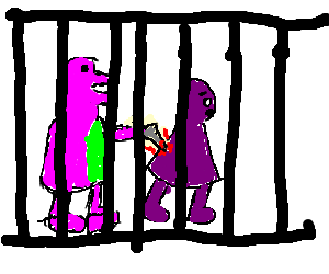 Barney shanks Grimace in prison