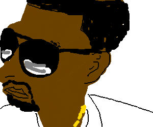 Kanye West W/ his glasses