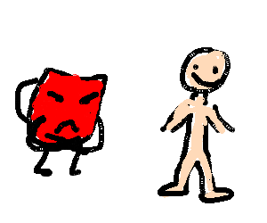 Kool Aid man doesn't like Bill's nudity