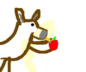"Derp monkey is ""screwing"" an apple"
