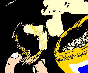 baby jesus appears on a potato chip
