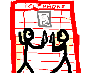 Knife fight in a phone booth - Drawception