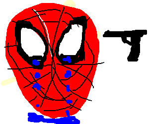 emo spiderman is upset with everyone (crying)