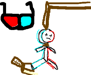 3D Stickman commits suicide by hanging