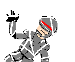 Robocop gets trapped in a nefarious web