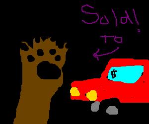 Deathclaw buys a car.