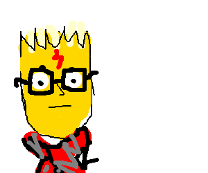 Bart Simpson wishes he was Harry Potter