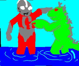 Godzilla using nipple twist..It's ineffective.