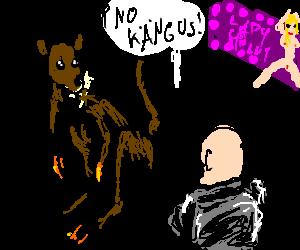 kangaroo refused at stripclub