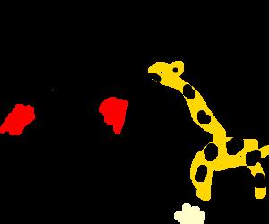 Butterbean challenges giraffe to a boxing match
