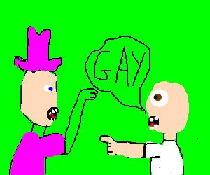 Homophobe accuses man of being gay