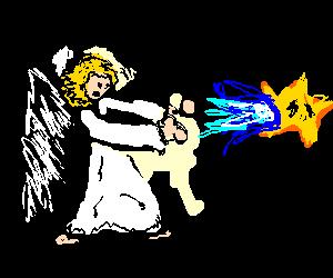 Angry angel haduoken mario star