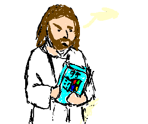 Jesus checking the Windows system requirements